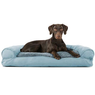 Dog Bolster Color: Deep Pool, Size: 8 H x 36 W x 27 D