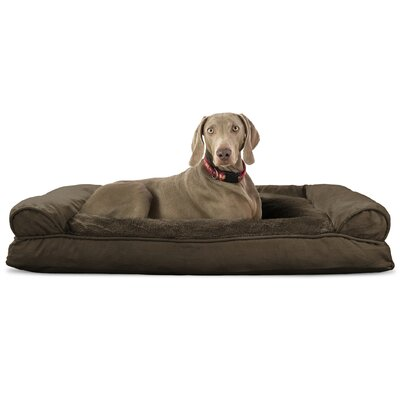 Dog Bolster Color: Espresso, Size: 10