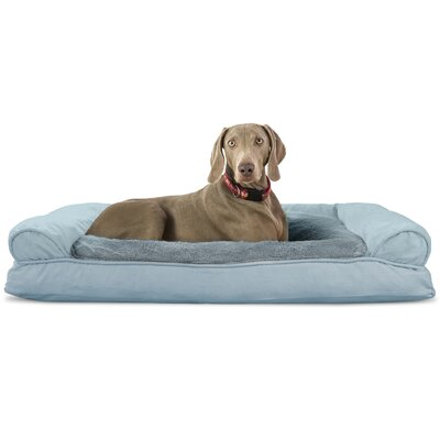 Dog Bolster Color: Deep Pool, Size: 10 H x 44 W x 35 D