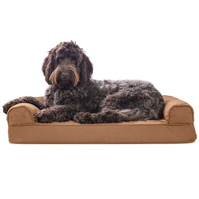 Gerardo Dog Bolster Color: Warm Brown, Size: 9 H x 44 W x 35 D