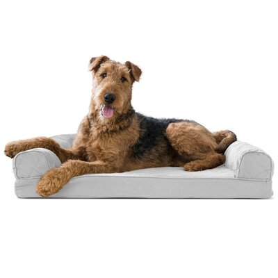 Dog Bolster Color: Silver Gray, Size: 9