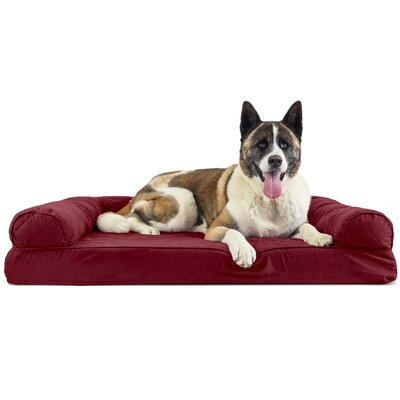 Gerardo Dog Bolster Color: Wine Red, Size: 9 H x 44 W x 35 D