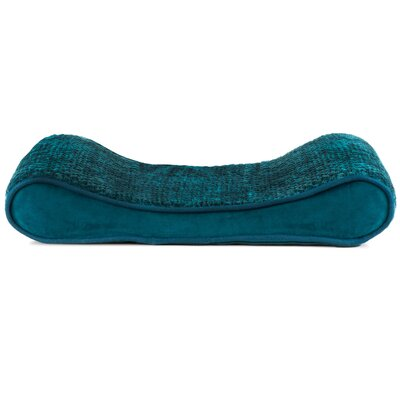 Minky Plush Velvet Luxe Lounger Contour Dog Pillow Size: 21 W x 14 D x 4 H, Color: Spruce Blue