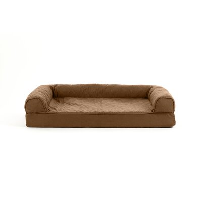 Nell Quilted Cooling Gel Dog Sofa Size: Medium (3 H x 30 W x 20 D), Color: Warm Brown