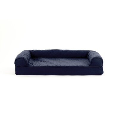 Quilted Cooling Gel Dog Sofa Size: Extra Large (44 W x 35 D), Color: Navy