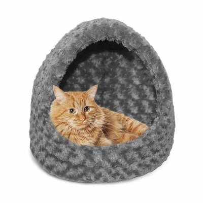 Hornell Ultra Plush Hood Cat Bed Color: Gray