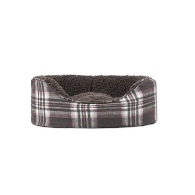Blake Terry and Plaid Pet Bed Size: Large (26 L x 21 W), Color: Java Brown Oval