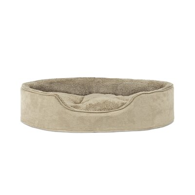 Snuggle Terry & Suede Pet Bed Size: Small (19 L x 15 W), Color: Clay