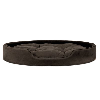 Blake Terry & Suede Pet Bed Size: X-Large (30 L x 27 W), Color: Espresso