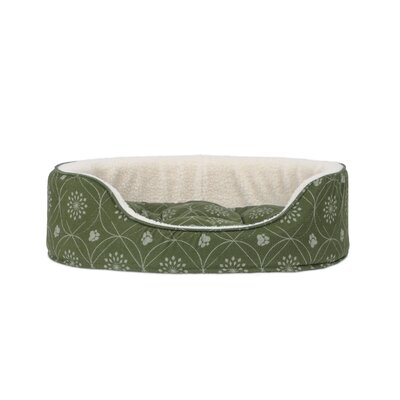D�cor Flannel Oval Dog Sofa with Removable Cover Size: Medium, Color: Jade Green