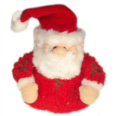 Chenille Holly Santa Chew Toy