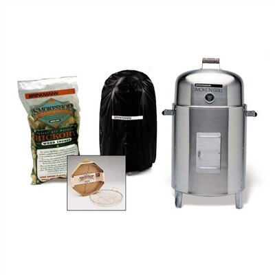 1008Smoke 'N Grill Stainless Steel Charcoal Smoker & Grill Value Pack