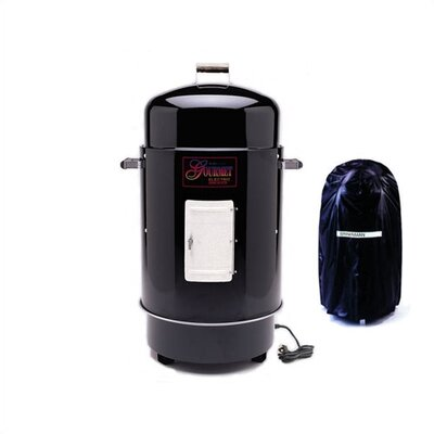 Gourmet Electric Smoker & Grill with Vinyl Cover Finish: Black