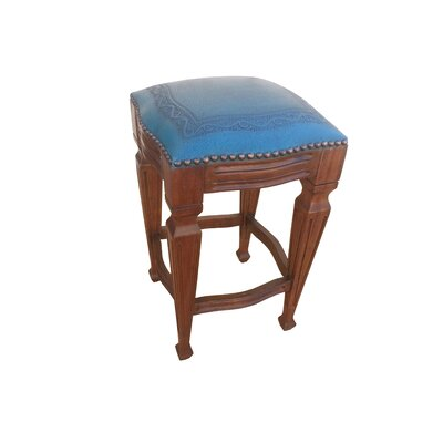 Zorro 30 Bar Stool (Set of 2) Upholstery: Blue