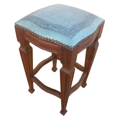 Zorro 26 Bar Stool (Set of 2) Upholstery: Turquoise