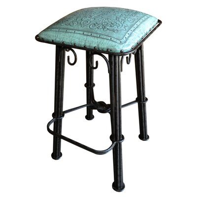 30 Bar Stool Upholstery: Colonial Turquoise