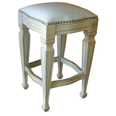 Zorro 30 Bar Stool (Set of 2) Upholstery: White