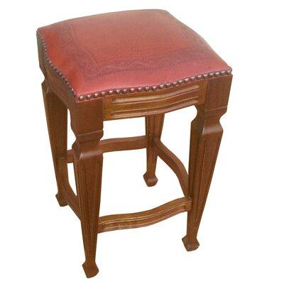 Zorro 26 Bar Stool (Set of 2) Upholstery: Red