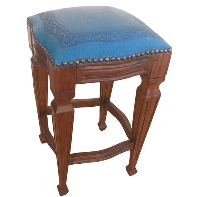 Zorro 26 Bar Stool (Set of 2) Upholstery: Blue