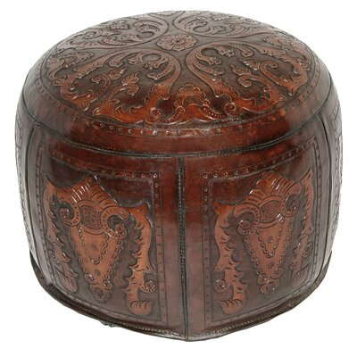 Colonial Leather Pouf