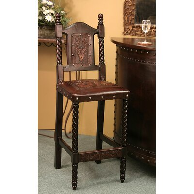 Colonial Bar Stool Finish: Antique Brown