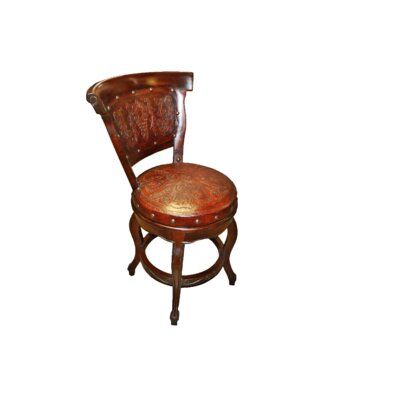 Colonial 26 inch Swivel Bar Stool Finish: Rustic