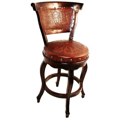 Colonial 30 Swivel Bar Stool Finish: Antique Brown