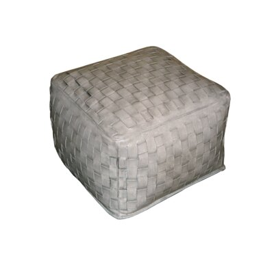 Filicia Square Braided Leather Ottoman