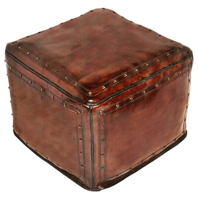 Leather Pouf Upholstery: Antique Brown