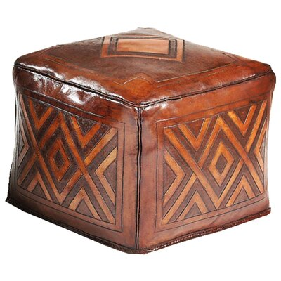Diamond Saddle Leather Ottoman
