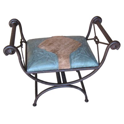 Colonial Single Vanity Iron Bench Color: Turquoise
