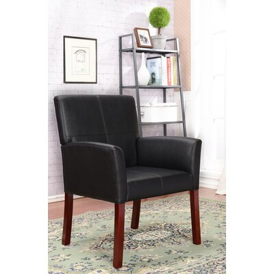 Accent Arm Chair Upholstery: Black