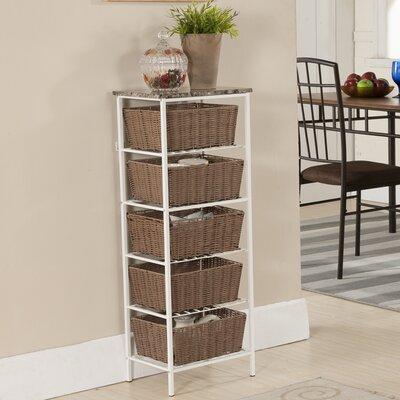 InRoom Designs 5 Tier Storage with Basket