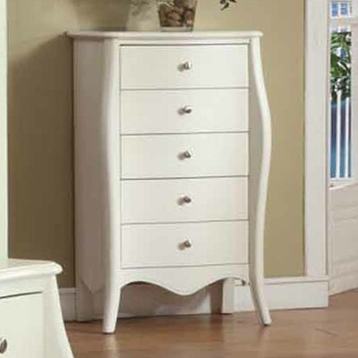 Jewelry Armoire Color: Cream White