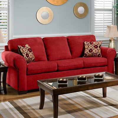 Sofa Upholstery: Aqua Red