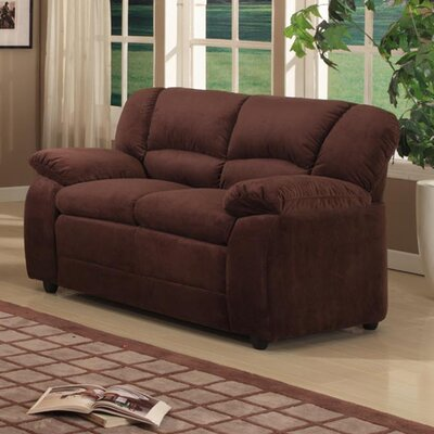 Loveseat Upholstery: Chocolate