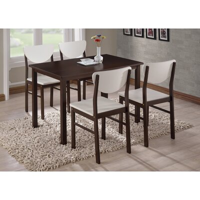 Alesha Wood Leg Dining Table Table Finish: Walnut