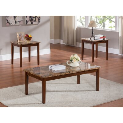 3 Piece Coffee Table Set Finish: Cherry