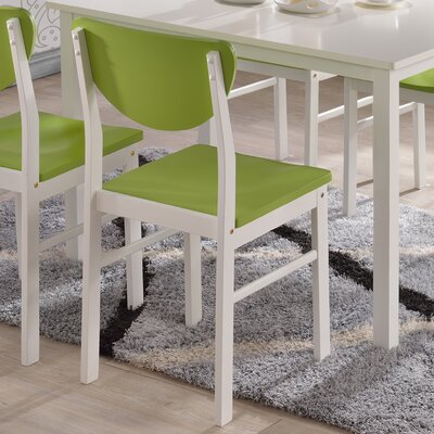 Alesha Side Chair Color: Green