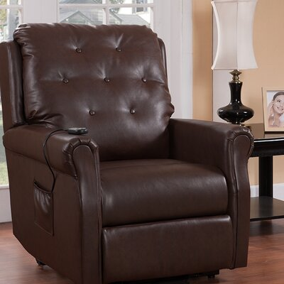 Power Lift Recliner Frame Finish: Brown