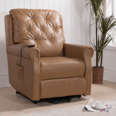 Power Lift Assist Recliner Frame Finish: Taupe