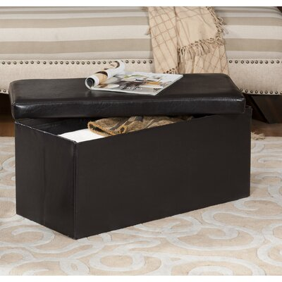 Rosewood Upholstered Storage Bench Ottoman