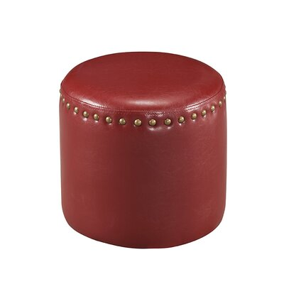 Pouf Upholstery: Red