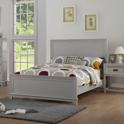 Iesha Panel Bed Size: Twin, Bed Frame Color: Dove Gray