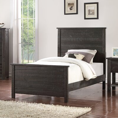 Hubert Panel Bed Size: Twin, Bed Frame Color: Dark Brown