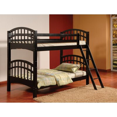 Furniture leasing Arched Twin over Twin Bunk Bed Fini...