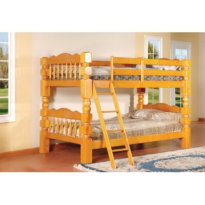Twin Bunk Bed Finish: Honey Oak