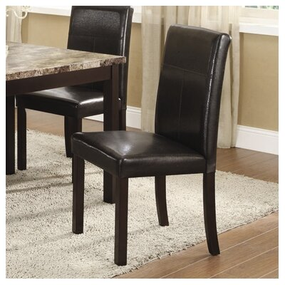 No credit check financing Parsons Chair Finish: Espresso...
