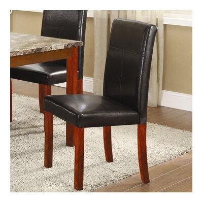 Bad credit financing Parsons Chair Finish: Walnut...