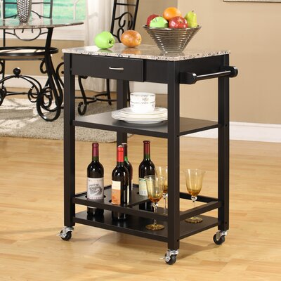 InRoom Designs Kitchen Cart With Marble Top   Kitchen Island   Portable  Kitchen Islands Shop